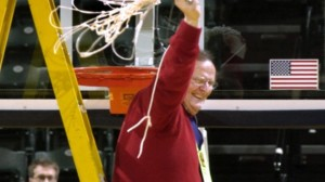 Basil Mawbey after winning a state championship with Lewis Cass. (Photo courtesy of IUPUI)