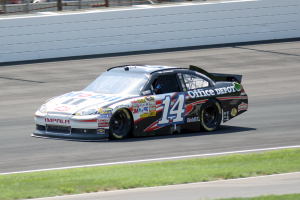 Tony Stewart at the Brickyard 400. (Photo by William Gibson)