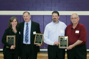 Dyan Lodde-Brownlee and Dan Robinson were inducted into the Northwestern Athletic Hall of Fame while John Kiser was represented by son Jason and brother Robert.