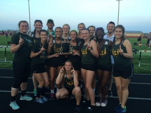 The Eastern Lady Comets won the final  girls Howard County Track Meet. Courtesy of Eastern Track and Field