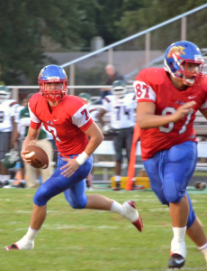 Kyle Wade threw for three touchdowns in Kokomo's record-breaking 67-21 win over Arsenal Tech. (Photo by Joshua Myers)