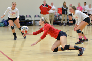IU Kokomo junior libero Kaleigh Ensley. (SJ Photo/Slater Young)