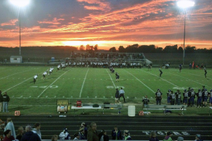 Sunset over western Howard County during Tigers-Panthers varsity football game on Oct. 2.