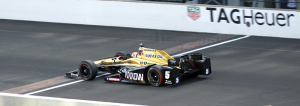 James Hinchcliffe wins the pole for the Indianapolis 500. (Photo by William Gibson)