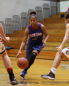Tionna Brown runs the point for the Lady Wildkats against Logansport. (SJ Photo/William Gibson)