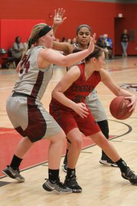Abby Scott makes a move in the paint for IU Kokomo in the RSC championship game. (SJ photo/William Gibson)